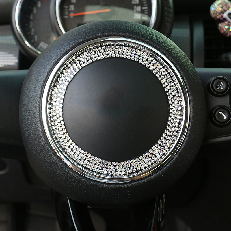 For Mini cooper S F56 F55 R55 R56 R57 R61 R60 countryman clubman steering wheel diamonds crystal decoration interior accessories