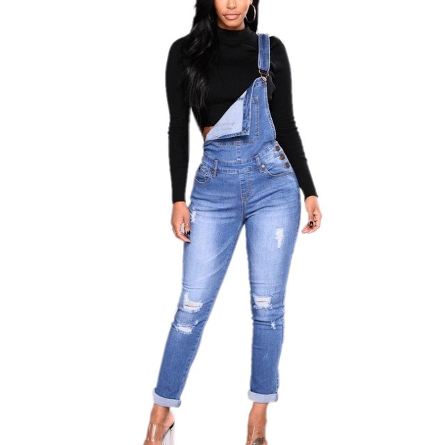 0c94fb89176b4 S-3XL Plus Size Clothing Set Women Denim Jumpsuit One Piece Trousers Jeans  Sleeveless Jumpsuits Overalls Hollow Out Rompers 8075