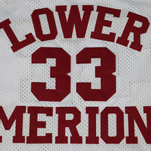 Cheap BRYANT Throwback Basketball Jersey #33 LOWER MERION Red Retro Stitched Basketball Jerseys Mens Shirts Camiseta Baloncesto