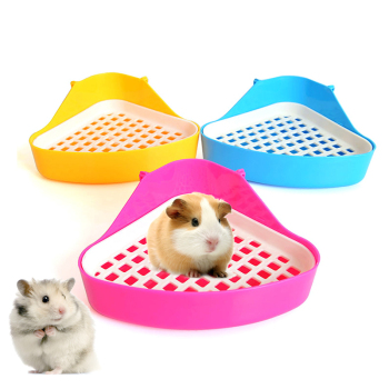 Hamster Toilet Rabbit triangle toilet large bird cages for parrots bird toilet Cony Totoro Guinea pig toilet Candy color