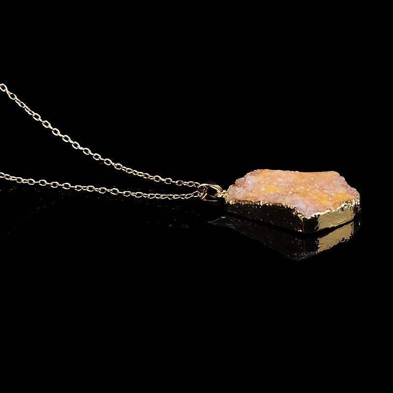 Yeni isti satış Düzensiz təbii daş kvars kristal boyunbağı - Moda zərgərlik - Fotoqrafiya 4