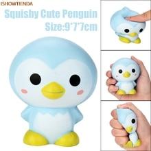 9cm PU χαριτωμένο πιγκουίνος κινουμένων σχεδίων αρωματικά Squishy γοητεία αργά αυξανόμενη συμπίεση παιχνιδιών γοητεία δώρα ανακούφισης άγχος ανακούφιση παιχνίδι ζεστό πώληση