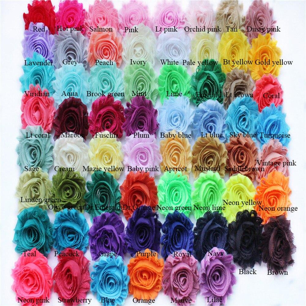 120yards lot 2 5 shabby chiffon rose flower chiffon flower trim rosette trimming free shipping