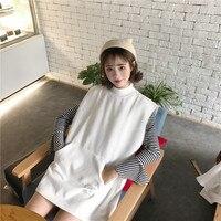 2017 جديد إمرأة قميص مضيئة كم الصوف بالضيق شركة تقدم 5429 سترة + المد بلوزة قميص أبيض مقلم صدرية 1264