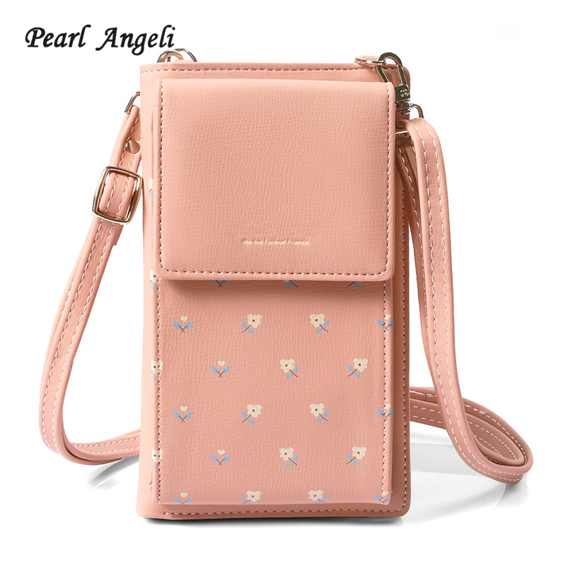 New Design Women Wallets Women Crossbody Bag Long Female Purse Leather Clutch Lady Multi Function Handbag
