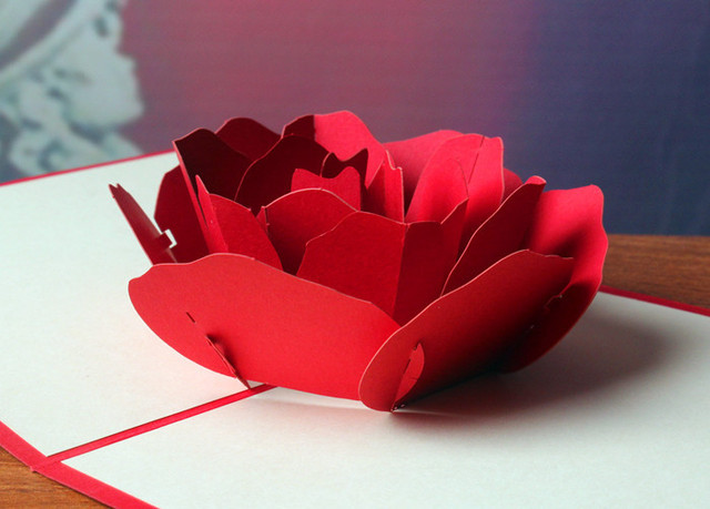3d pop up rose paper card postcards greeting card decoration happy 3d pop up rose paper card postcards greeting card decoration happy anniversary birthday valentine christmas m4hsunfo