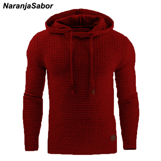 Autumn Men's Slim Hooded Sweatshirts 3