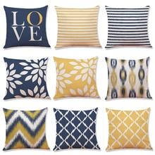 Simple creative geometry cotton pillow Car cushion pillowcase sofa bed room Office Home decoration 45x45cm