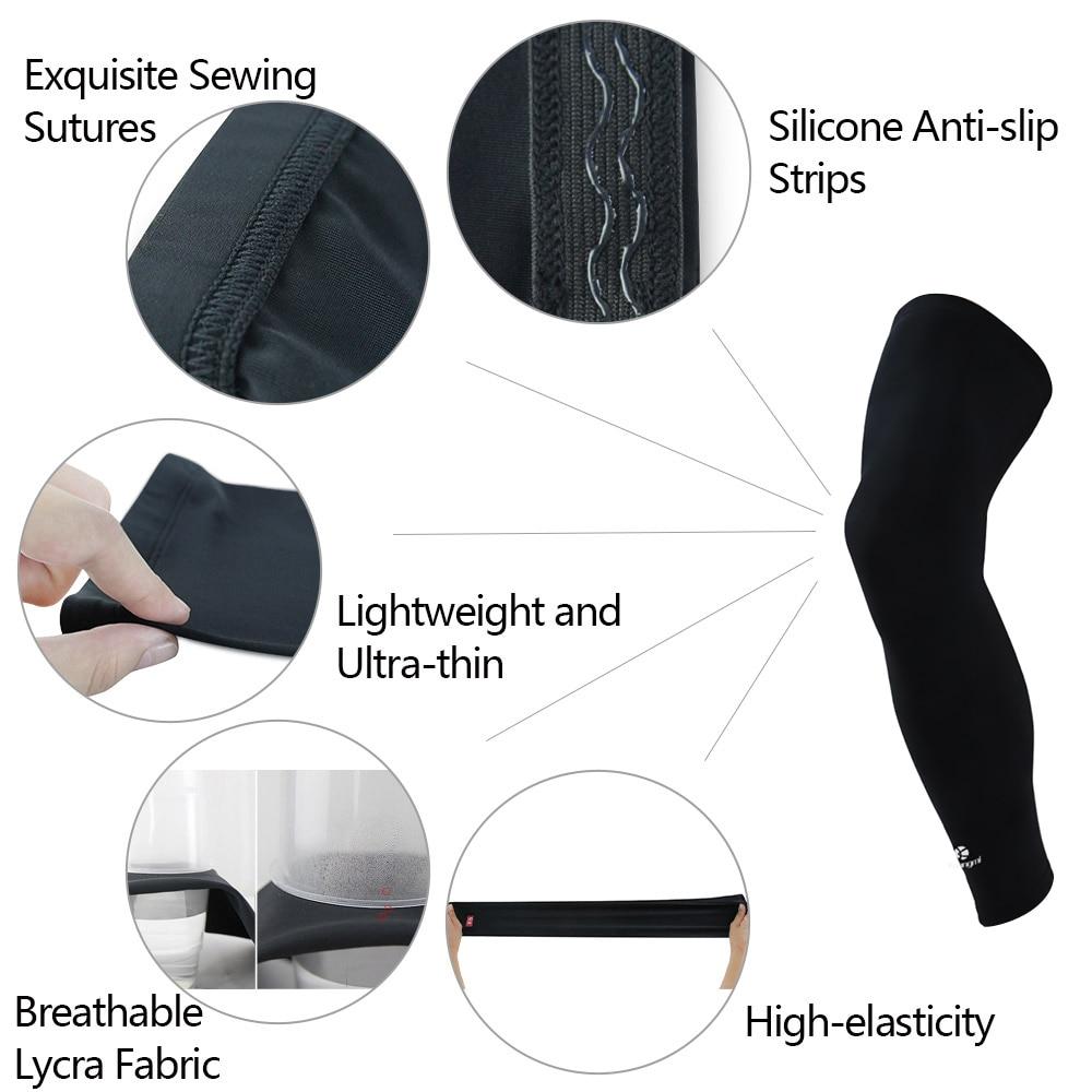 Kuangmi 2tk jalgade kokkusurumise varrukad jalgade pikkade - Spordiriided ja aksessuaarid - Foto 6