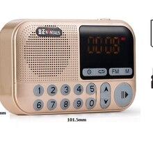 Карманное радио FM радио мини портативный Перезаряжаемый радио приемник динамик поддержка USB TF карта Музыка MP3 плеер подарок для старых