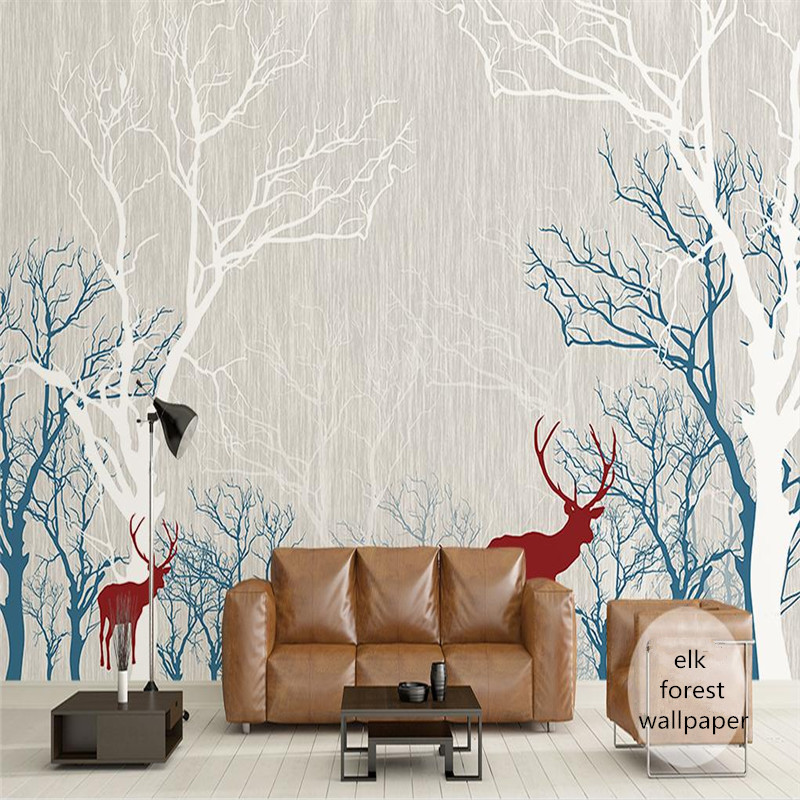 custom 3d photo wallpaper modern simple living room bedroom TV background large hands painted wallpaper abstract elk wall mural modern simple romantic snow large mural wallpaper for living room bedroom wallpaper painting tv backdrop 3d wallpaper