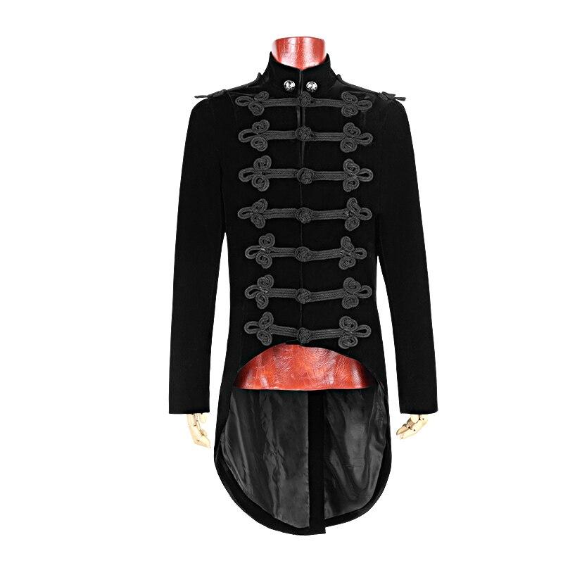 Gothic Black Noblemen Tailcoat met Chinese Knoop Knoop Victoriaanse - Herenkleding - Foto 4