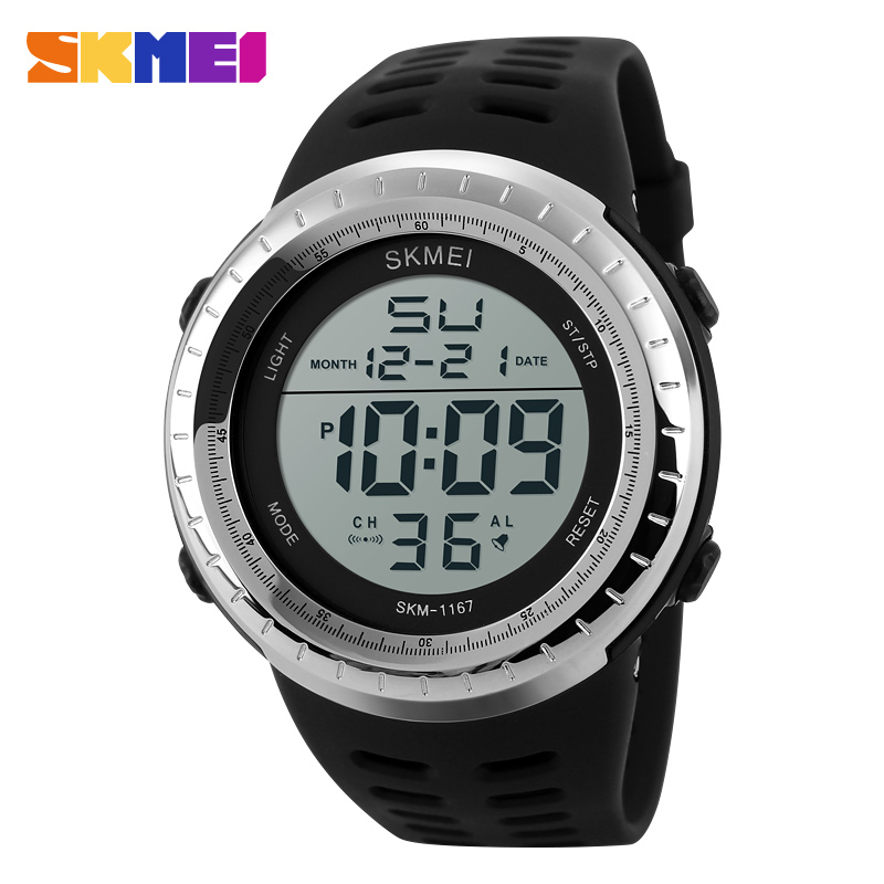 <font><b>SKMEI</b></font> Fashion Brand Shock Resistant Watch Outdoor Men Military Watches Men's LED Digital Watch Casual Sports Men's Wristwatches image