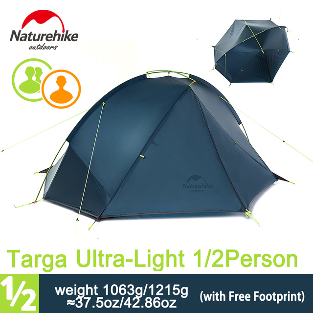 Naturehike 1-2 Person 3 Season C&ing Tent Single Skin Ulratlight Rainproof Backpacking Tent for  sc 1 st  AliExpress.com : 3 man backpacking tent - memphite.com