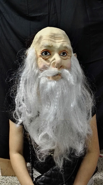 halloween mask funny masquerade old lady old man witch full face scary mask for couples vinyl