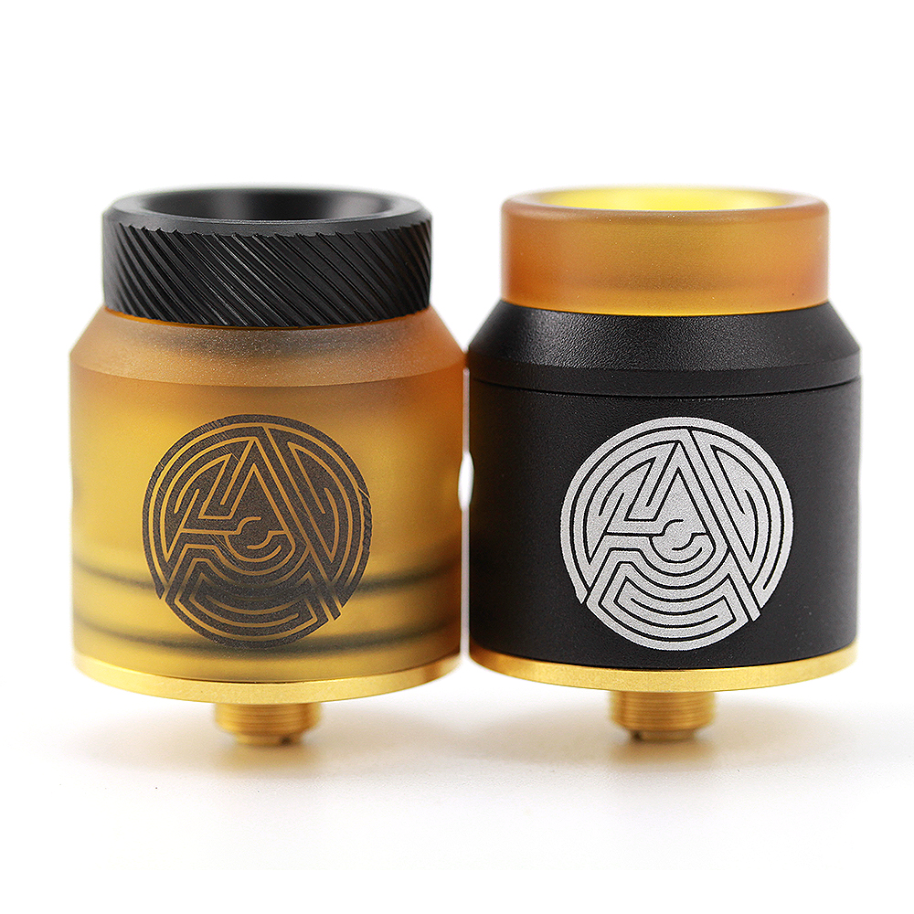 2017 new Original Advken Artha RDA 24mm cigarette électronique Reconstructible Gouttes Atomiseur W/BF Broches 24 K or plaqué pont