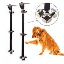 Обучение Собак дверные звонки премиум качества Haning учебный горшок Большой Регулируемый собака колокольчики для горшок Pet веревочка для дверного звонка