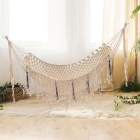 Cotton Hand woven Outdoor Leisure Chair Hammock Home Indoor Wall Hangings Hammock Single Person Hammock For Yard Garden 1PC J2