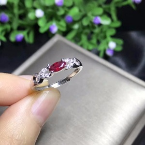 Image 5 - Natural ruby ring, 925 sterling silver, simple and exquisite style, cheap price, recommended by the owner, authentic color