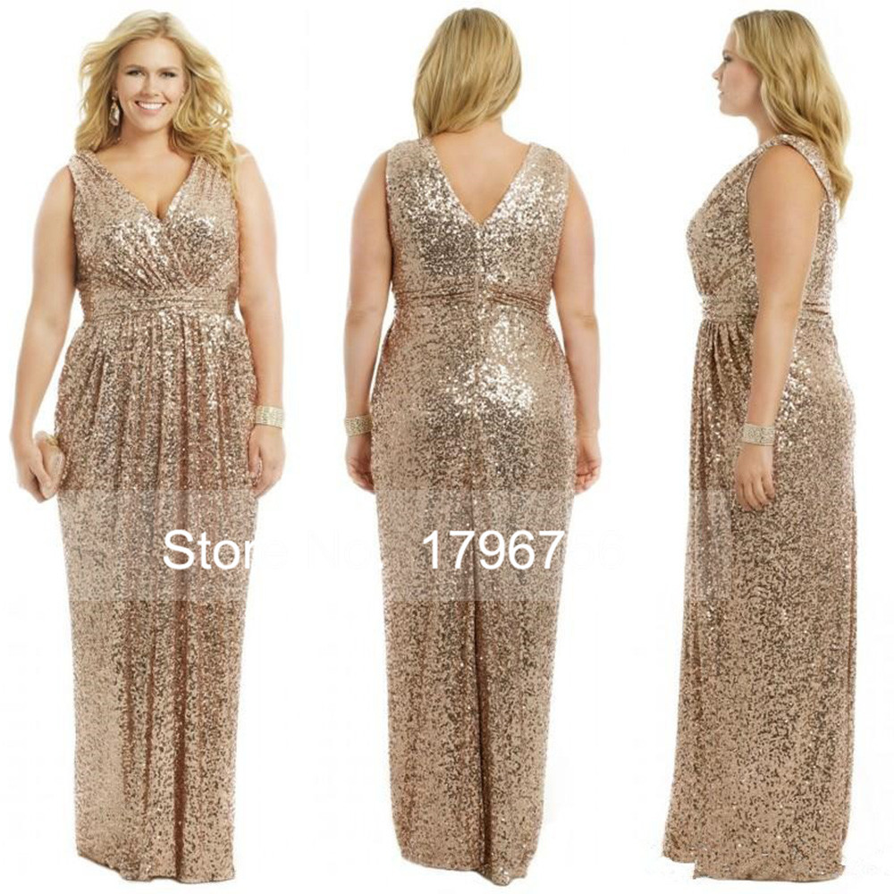Popular sequin bridesmaid buy cheap sequin bridesmaid lots from 2016 floor length v back rhinestones gold bling long bridesmaid dresses sparkly v neck a line ombrellifo Image collections