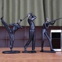 Decorativa moderna Minimalista Da Arte Abstrata Escultura Estatuetas de Resina Esporte Prêmio Presente Coleções Figurinhas Escultura Artesanato Deco