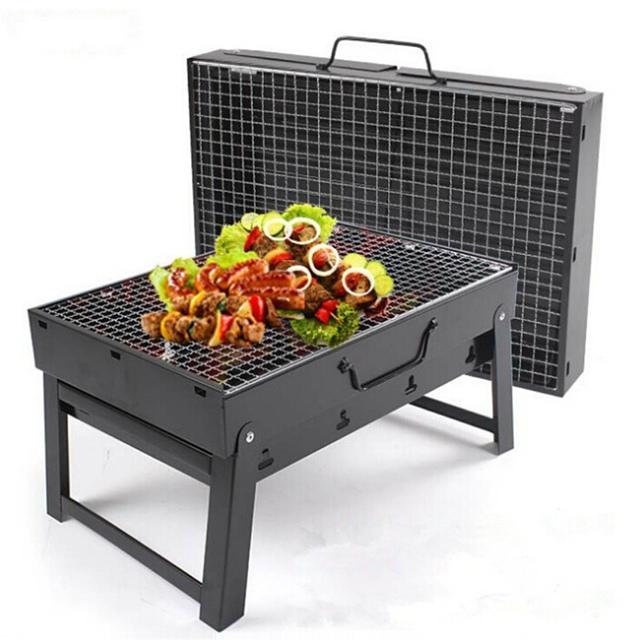 magic kitchen grill cabinet hinge outdoor 35 27 20cm folding portable stainless steel hiking camping charcoal picnic