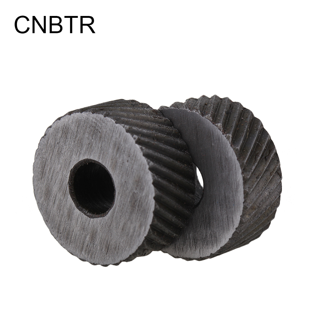 CNBTR 2PCS 1.5mm Pitch Diagonal Coarse 19mm OD Steel Knurling Wheel Tool Roller Tool