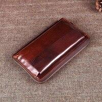AETOO Genuine Leather Men Vintage Thiết Kế Ví Kinh Doanh Nam Dây Kéo Ly Hợp Túi Người Đàn Ông của Purse Thẻ Người Đàn Ông Cổ Điển Wallet Túi Xách