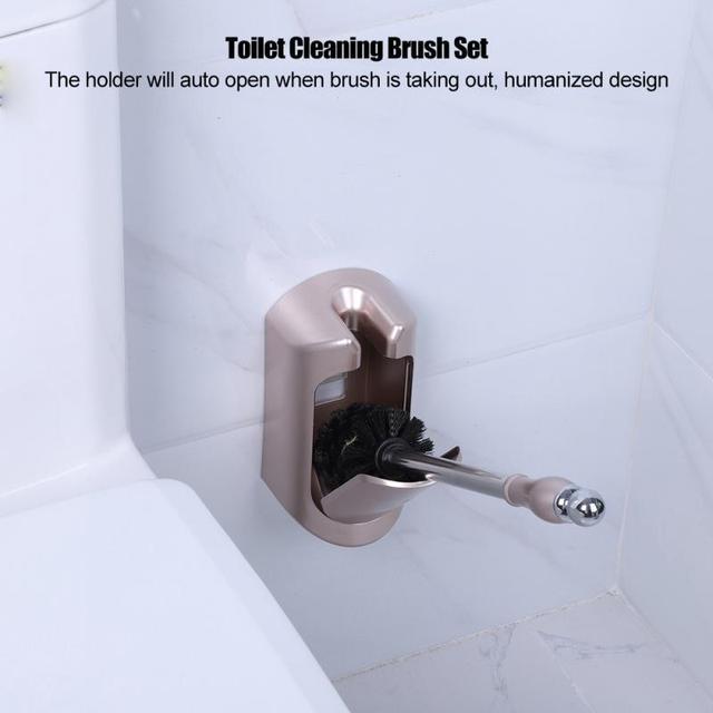 Wysokiej jakości stal nierdzewna przenośne wc szczotka trwała plastikowa szczotka toaletowa z uchwytami zestawy akcesoriów łazienkowych