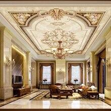 Papel de pared beibehang clásico de tres dimensiones con personalidad sedosa papel tapiz 3d mosaico de mármol europeo vintage Mural de techo