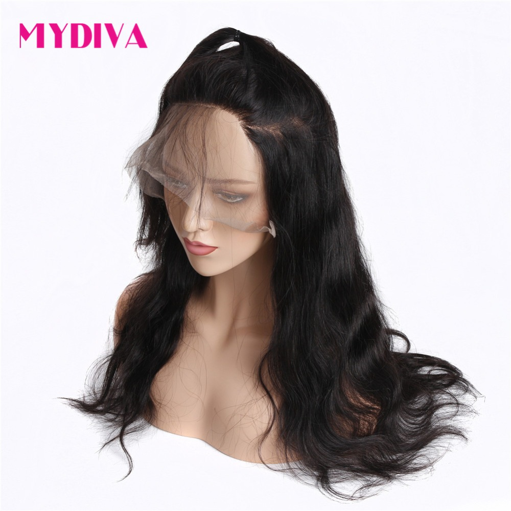 360 Lace Frontal Wigs For Women Natural Black Brazilian Body Wave Lace Front Human Hair Wigs Pre Plucked With Baby Hair Remy-in Human Hair Lace Wigs from Hair Extensions & Wigs    3