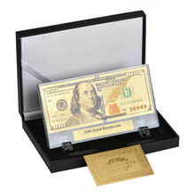 WR Quality Plastic Banknote Album Money and Paper Gift Box for Fake 24K Gold Banknotes Counter Banknotes Paper Money Collecting(China)