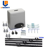 LPSECURITY 600KG Residential auto electric sliding gate motors with gate sensor,warn light,2 remotes y 4 meter racks