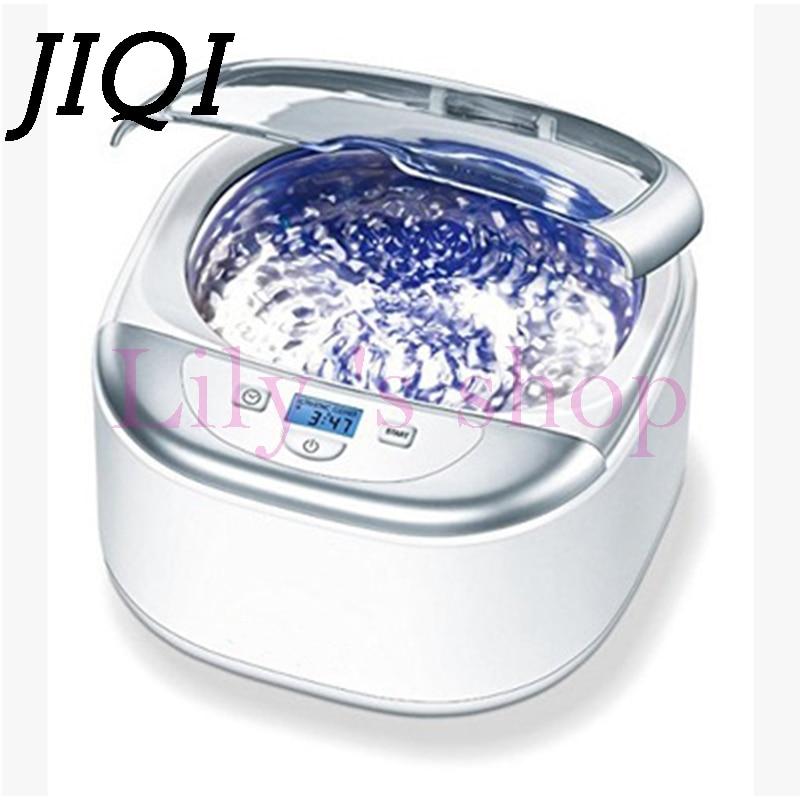 JIQI Digital Ultrasonic cleaner Wash Bath Tank Baskets watch glass Jewelry mini Denture Ultrasound Cleaning machine 42Khz 50W EU digital mini ultrasonic bath cleaner 0 75l 50w tank lab dentures glasses jewelry watch ring coin ce 42khz time adjust machine
