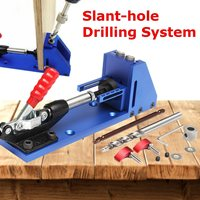 Oblique Pro Pocket Hole Jig Drill Guide Joinery Woodworking Tool Kit + Drilling Bit Wood For Kreg lant hole Drilling System