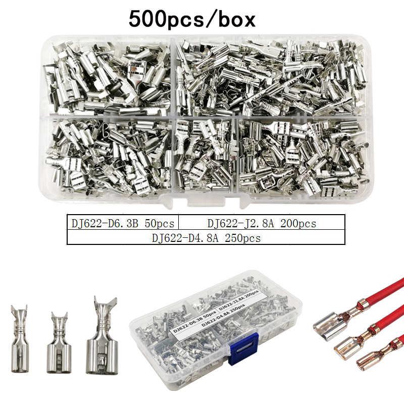 Vsele Tabung Isolasi Crimp Terminal Isolasi RING TERMINAL Plug TAB 2.8 4.8 6.3 Terminator Konektor Blok 9 Jenis Box Set