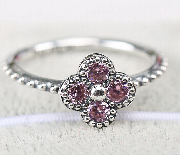 cz seoul clover products in ring serendipity rings