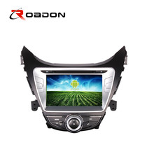 Car DVD GPS For Hyundai Elantra 2012 With Android 4.4.4 Steering Wheel Bluetooth Radio Video 3G WIFI Wifi Car Cover 1