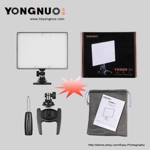 YONGNUO YN-300 YN300 Air LED panneau lumineux vidéo sur l'appareil photo 3200 K-5500 K avec batterie et chargeur NP-F550 pour Canon Nikon DSLR