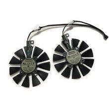 2 шт./компл. T129215SU EX-RX 570 GTX 1070/1060 двойной охлаждающий вентилятор GPU для GeForce ASUS AREZ-EX-RX570-4G/8G Видеокарта охлаждения