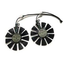2 pçs/set T129215SU EX-RX 570 Ventilador Cooler Para ASUS GeForce GTX 1070/1060 DUAL GPU AREZ-EX-RX570-4G/8G Vídeo Placa Gráfica Arrefecimento