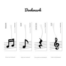 24 PCS/Lot Music Note Bookmarks