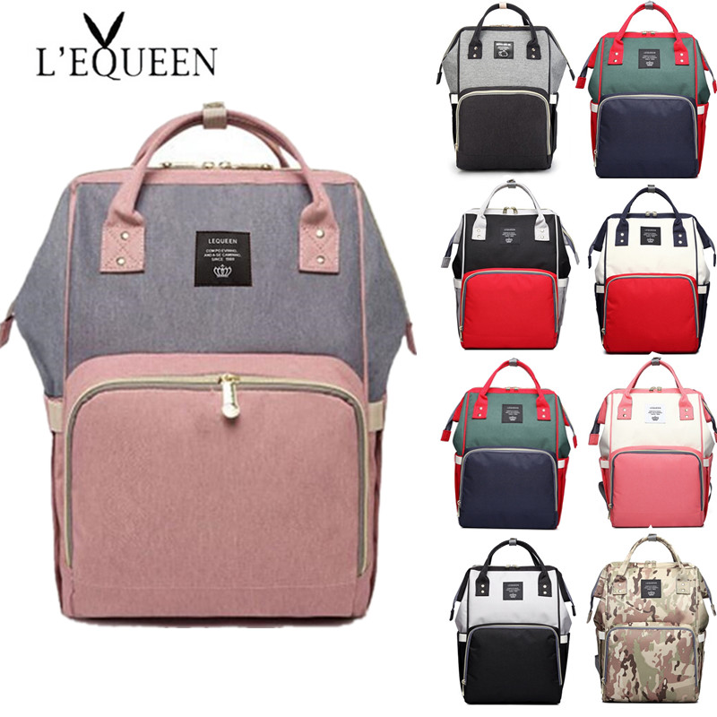LEQUEEN Diaper Bag Baby Care Large Capacity Mom Backpack Mummy Maternity Wet Bag Waterproof  Baby Pregnant Bag