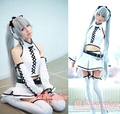 New VOCALOID Snow Miku Cosplay Costume White Hatsune Miku COS Suit Women Halloween Costumes