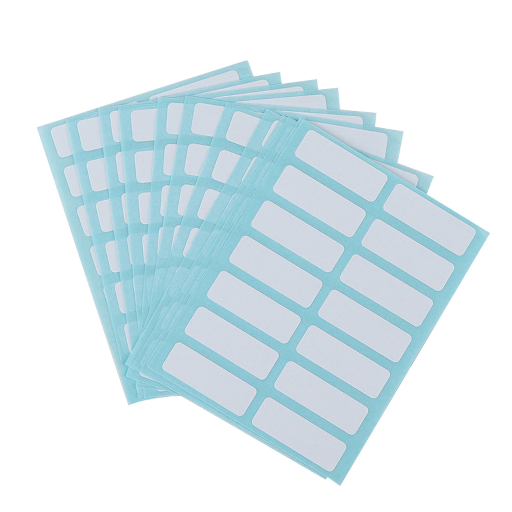 13 X 38mm White Price Sticker Self Adhesive Labels Blank Name Number Tags 12 Sheets