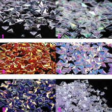 Chameleon AB Triangle Nail Sequins 1jar of 10ml  3D Paillette Sticker Tips Colorful Glitter #PLB01-6/4#