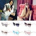 Mulheres retro shades oversized cat eye óculos de sol do vintage óculos designer eyewear