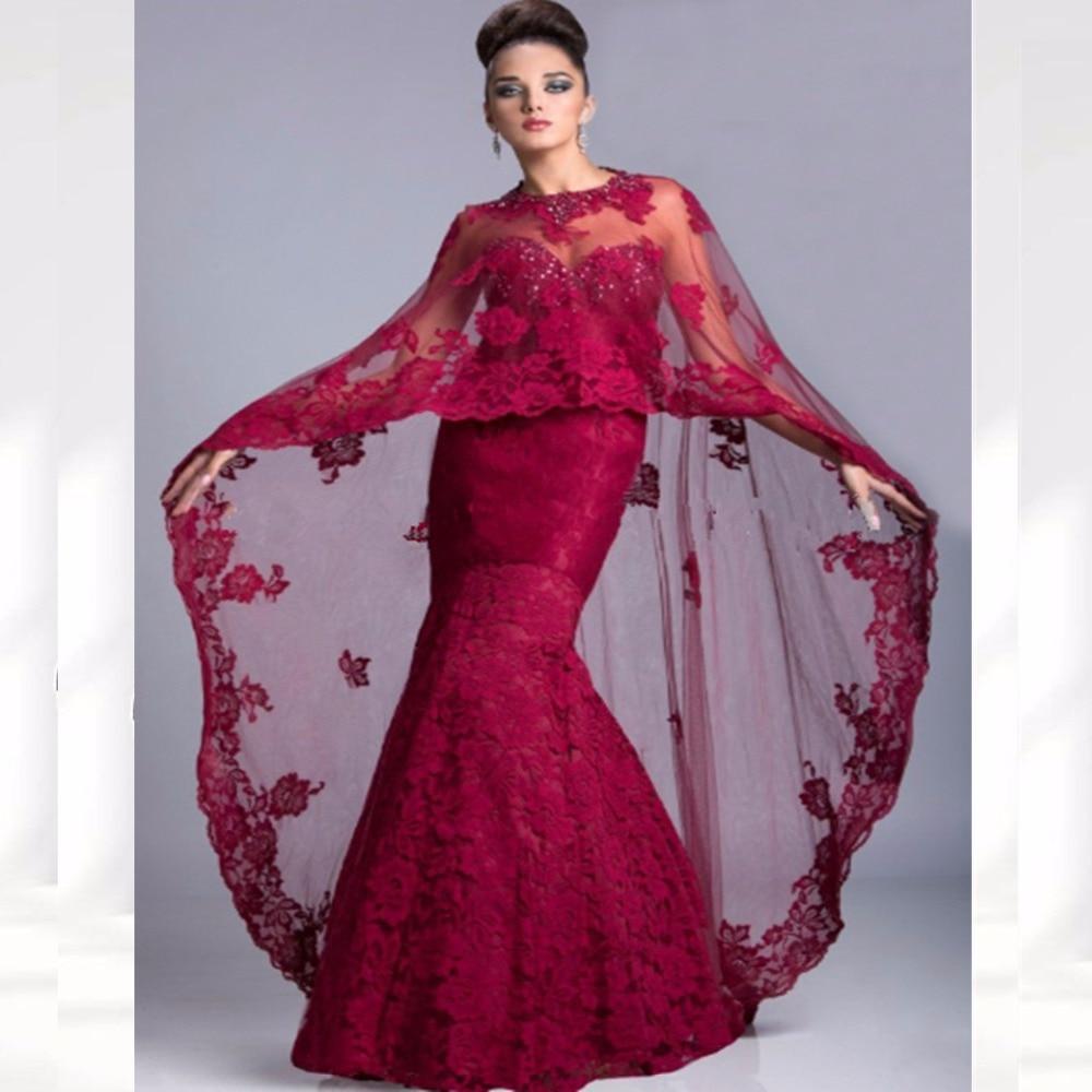 Saudi Arabia Vestidos Long Mother Of The Bride Dresses Shawl Cape