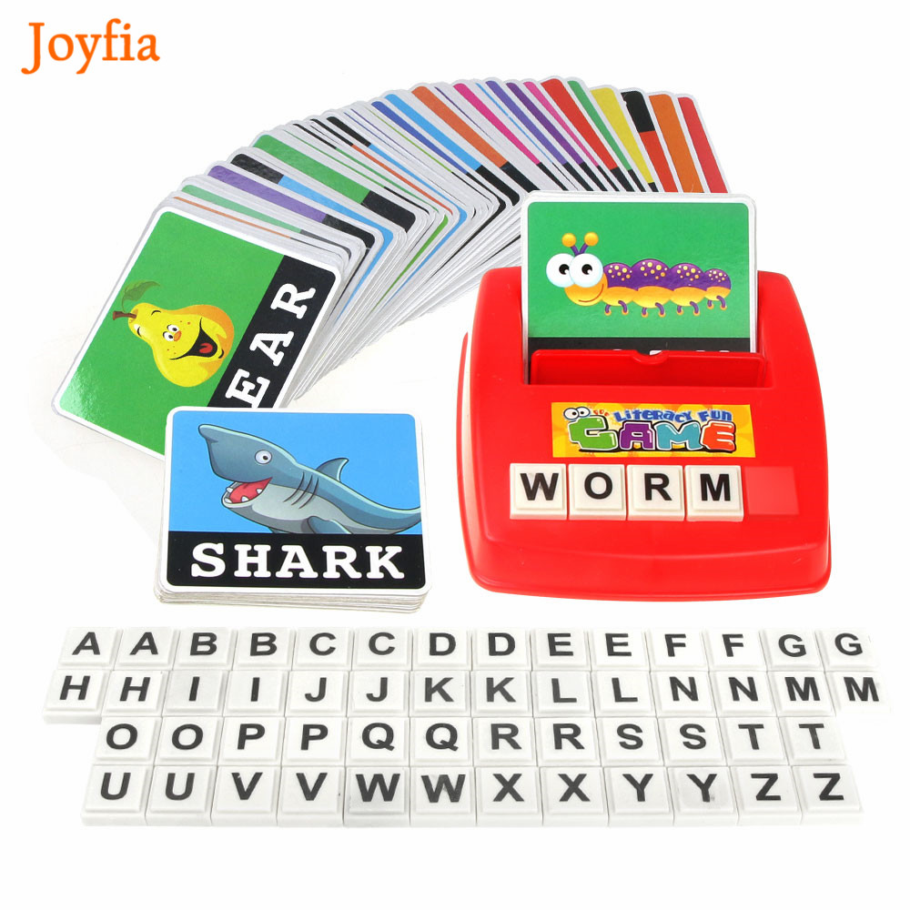 Children Alphabet Puzzle Game Card English Spelling Letters Learning English Language Words Toys Match Game Educational Toys [