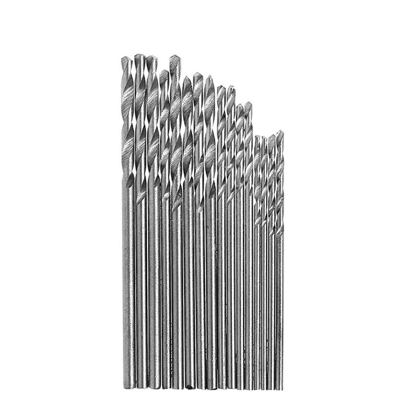 16PCS 0.8-1.5mm HSS Steel Twist Drill Bit Set For Electric Grinding Drills
